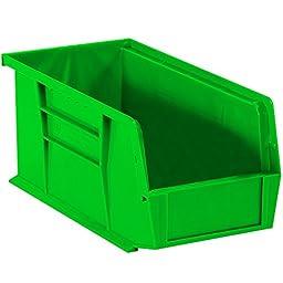 Aviditi BINP1155G Plastic Stack and Hang Bin Boxes, 10 7/8\