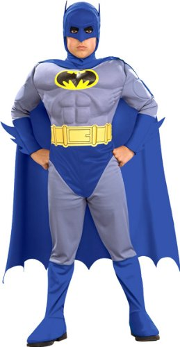 Deluxe Muscle Chest Batman Costume - Child Large