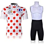 Carrefour de velo de bicyclette confortable Jersey exterieur Shorts Set