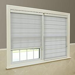 Grey Premium Duo Roller Window Shade - 27 inch Wide