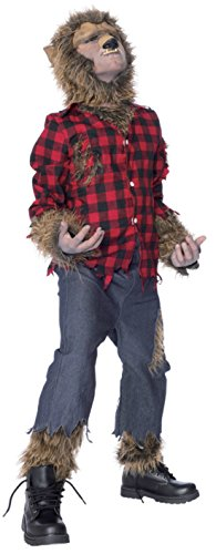 Boys Wolfman Kids Child Fancy Dress Party Halloween Costume
