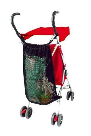 Stroller mesh bag black