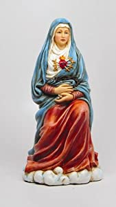 OUR LADY OF SEVEN SORROWS STATUE MATER DOLOROSA BLESSED VIRGIN MARY HANDPAINTED