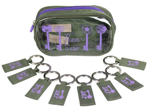 Salvador Bachiller - Bolsito Avec 8 porte-clés - Grafiti 2 60281 - Vert