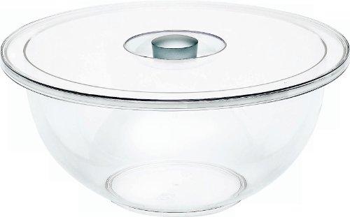 Emsa FIT+FRESH Saladier transparent avec couvercle, transparent/aluminium, 3à cm 5L