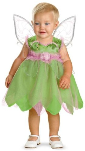 Toddler Girl'S Costume: Tinker Bell- 12-18 Months *** Product Description: Darling Green And Pink Tulip Skirt Dress With Detachable Wings. Fits Infant Size 12-18 Months. *** front-1013888