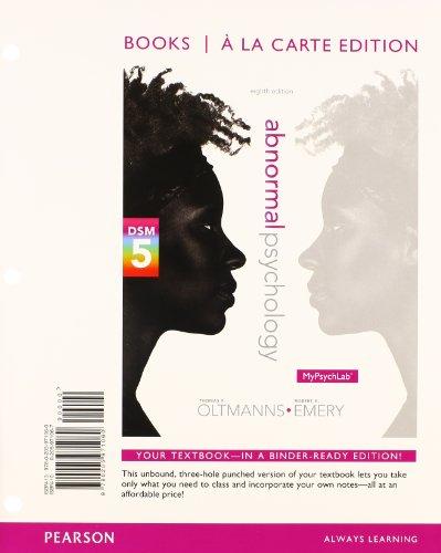 Abnormal Psychology, Books a la Carte Edition
