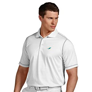 NFL Miami Dolphins Mens Icon Desert Dry Polo by Antigua