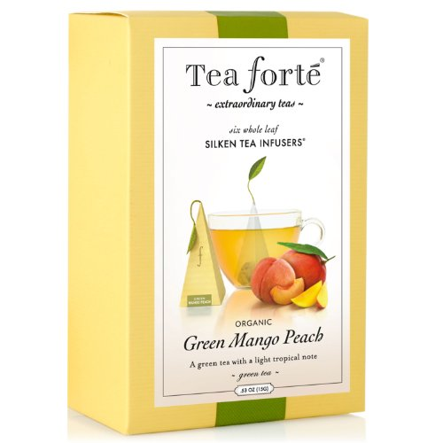 Tea Forte Gourmet Pyramid Box Tea Infusers-Green
