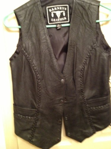 Barney's Unique-Look Ladies Fitted Leather Vest,
