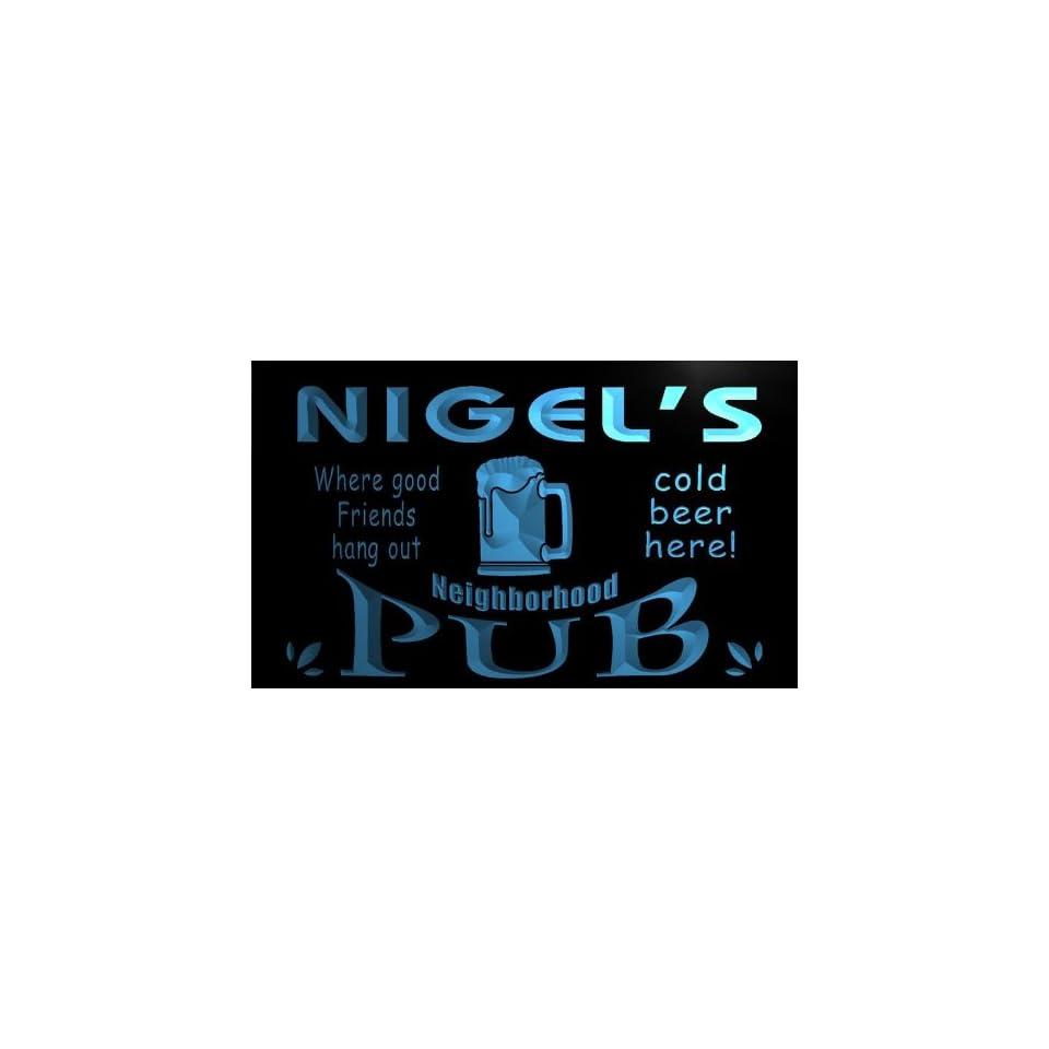 pg914 b Nigels Neighborhood Home Bar Pub Beer Neon Light Sign