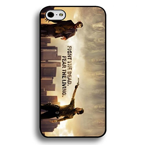 Famous Fight the Dead,Fear the Living Quote The Walking Dead Phone Case Black Hard Plastic Case Cover For Iphone 6/6S