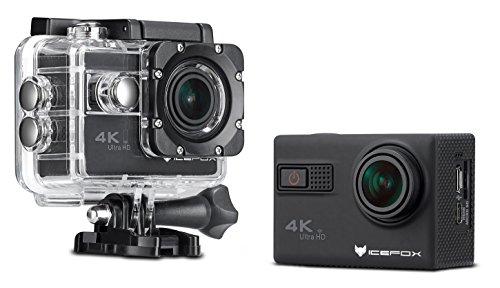 """IceFox ® Action-Kamera 4k, wasserdicht bis 30 Meter Unterwasser, WIFI Fernbedienung Kamera mit Sony-Objektiv, Loop-Aufnahme, 1080p Full HD, 170° Weitwinkel, HDMI Mikro-USB-TV-Ausgang, RSC Anti-Shake, 2,0"""" HD LCD-Display (Schwarz)"""