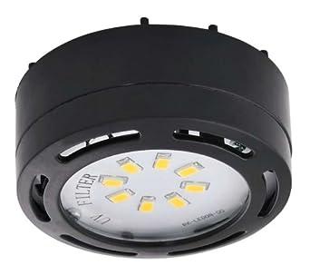 ledp120bk 120v direct led puck light black under counter fixtures. Black Bedroom Furniture Sets. Home Design Ideas