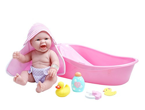 jc toys la realistic baby doll bathtub gift set featuring 13 all vinyl newbo ebay. Black Bedroom Furniture Sets. Home Design Ideas