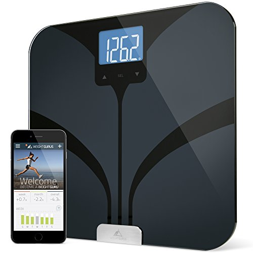 weight-gurus-bluetooth-smart-connected-body-fat-scale-with-large-backlit-lcd-by-greater-goods-black