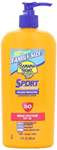 Banana Boat Sport SPF 50 Family Size Sunscreen Lotion, 12-Fluid Ounce