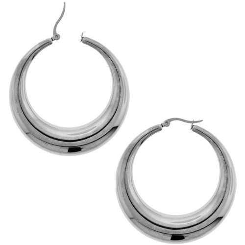 Inox Jewelry 316L Stainless Steel 20mm Hoop Earrings