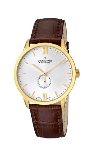 Candino C4471/2 - Reloj analógico de cuarzo para hombre, correa de cuero color marrón