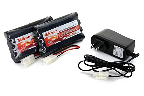 2pcs 9.6V 2000mAh NiMH Battery Packs for RC Car, Robots, Security + Simple Pack Charger (9v Battery Car Charger compare prices)