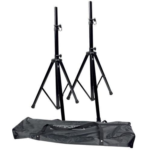Konig Speaker Stand Kit with Aluminium Carrying Bag - Black