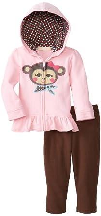 (新品)Kids Headquarters女宝两件套$11.99 Infant Hoody with Pull On Pants