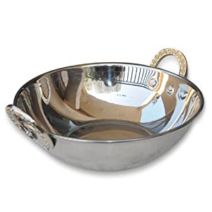 Amazon.com: Indian Stainless Steel Serving Karahi: Kitchen & Dining