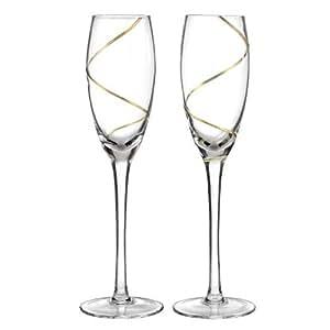 Amazon.com - Accesorios de boda del remolino del oro de Champán
