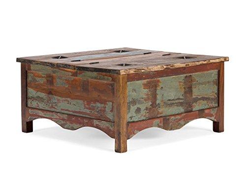 10014820 Couchtisch Truhe Cruzar Holz, bunt, 90 x 90 x 45 cm