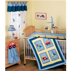 Truck Crib Bedding 5967 front