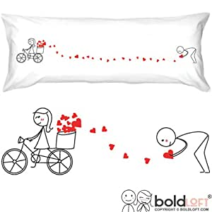 """BOLDLOFT® """"All My Love for You Body Pillow Cover-Cute Body Pillow Cover,2 Year Anniversary Gifts,Valentine's Day Gifts,Birthday Gifts for Him,Romantic Gifts for Him"""
