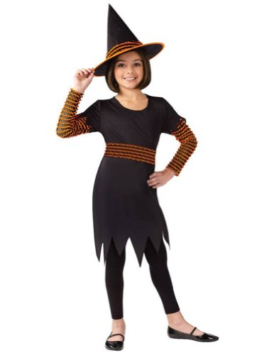 Kids-Costume Witch Pumpkin Patch Child Lg Halloween Costume - Child Large
