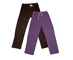 IndiWeaves Women Super Combo Pack 4 (Pack of 2 Lower/Track Pant and 2 T-Shirt)_Brown::Purple::Blue::White_XXL