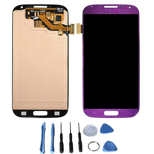 Mirror Purple Lcd Display + Touch Screen Digitizer Assembly For Samsung Galaxy S4 Iv I9500 I337 I545 L720 M919