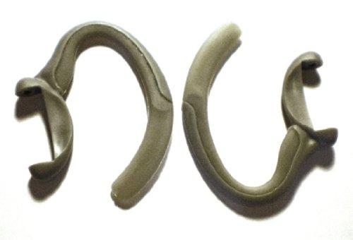 2 Grey Earhooks For Motorola H700 H710 H715 H721 Wireless Bluetooth Headset Ear Hook Loop Clip Earhook Hooks Loops Clips Earloop Earclip Earloops Earclip Replacement Part Parts