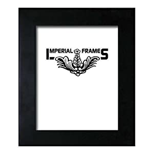 "Imperial Frames, Wood Picture Frame for a 8"" x 12"" Photograph, Moulding Size 1.5"" Wide & .75"" Thick, Color: Black"