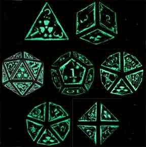 Amazon.com: Q-Workshop Polyhedral 7-Die Set: Carved Nuke Dice Set