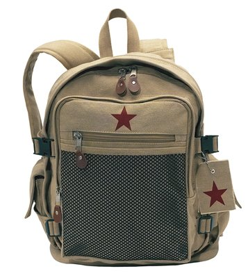 9165 KHAKI VINTAGE STAR BACKPACK II