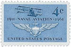 #1185 - 1961 4c Naval Aviation U. S. Postage Stamp Plate Block (4)