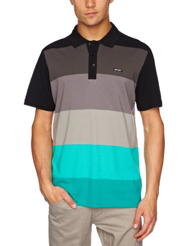 Rip Curl Bright Stripes Short Sleeve Polo Men's Shirt Columbia Small