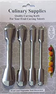 Culinary Supplies Serrated 4 Piece Fruit Carving Set