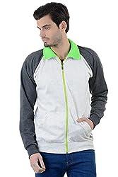Enquotism Neon Collar Contrast raglan Sleeve Zipper Sweatshirt