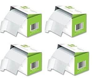 Pack of 1000 Quality Plain Address Labels 89x36mm (4 Rolls of 250 Stickers)