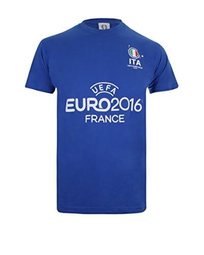 EURO 16 T-Shirt Manica Corta Italy Badge [Blu Royal]