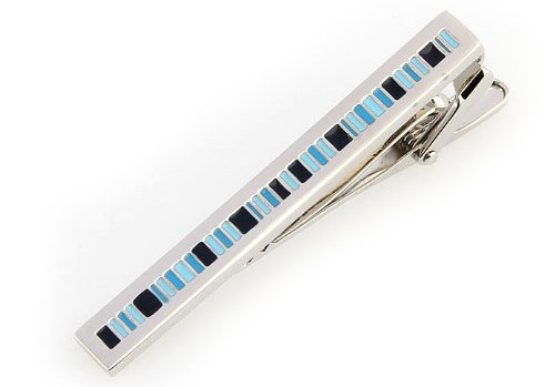 Santa Fe Express Repeating Stripe Pattern Men Tie Clip