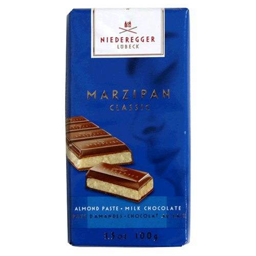 Niederegger Marzipan Classic Bar, Milk, 3.5-Ounce (Pack of 6)