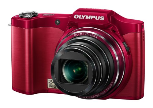 Olympus SZ-14 Digital Super Zoom Camera - Red (14MP, 24x Wide Optical Zoom) 3 inch LCD