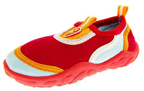 Footwear Studio, Scarpe da barca bambine, Rosso (rosso), 7.5 Child UK