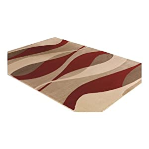 3 Sizes Available - Sincerity Modern - Contour Red - Good Quality Rug from Flair Rugs
