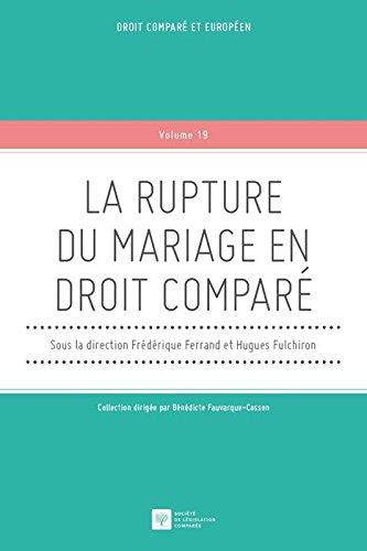 La rupture du mariage en droit comparé